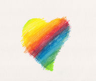 Heart in rainbow colors Stock Image