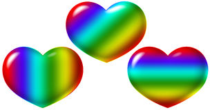 Heart rainbow Royalty Free Stock Images