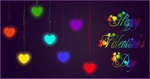 Heart rainbow Stock Images