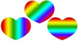 Heart rainbow Royalty Free Stock Photos