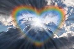 Free Heart Rainbow In Bright Sky Stock Photo - 182180630