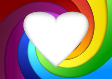 Heart on a rainbow - valentine background. Clip-art stock illustration