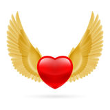 Heart with raised wings Royalty Free Stock Photo