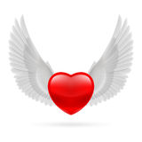 Heart with raised wings Royalty Free Stock Images