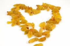 Heart of raisins Stock Photo