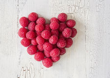 Heart from raspberries Stock Image