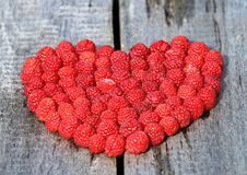 Heart, Raspberry, Board, Love, Ripe Royalty Free Stock Photography