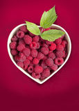 Heart with raspberry Stock Image