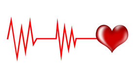 Heart rate Stock Image