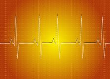 Heart rate. A medical background with a heart beat / pulse with a heart rate monitor symbol Stock Photography