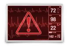 Heart Rate Alarm Stock Photography