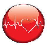 Heart rate button royalty free illustration