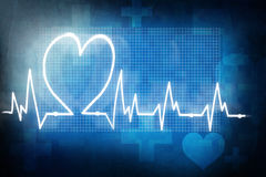 Heart rate cardiogram Royalty Free Stock Image