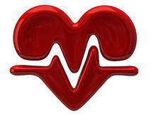Heart rate. 3d illustration of heart rate Royalty Free Stock Photos