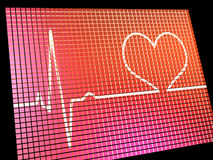 Heart Rate Display Monitor Royalty Free Stock Images