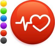 Free Heart Rate Icon On Round Internet Button Stock Photos - 12583343