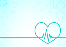 Heart rate line background Royalty Free Stock Photos