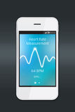 Heart rate measurement app Stock Photography