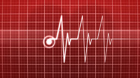 Heart Rate Monitor stock video footage