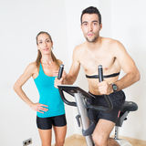 Heart rate monitor exercise Stock Image