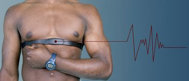 Heart rate monitor with pulse Royalty Free Stock Images