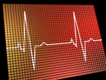 Heart Rate Monitor Showing Cardiac Stock Image