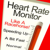 Heart Rate Monitor Very Fast Showing Quick Beats Stock Photography