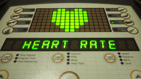 Digital heart rate control panel, gyms, calories, weight loss Royalty Free Stock Images