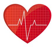 Heart rate vector Stock Images