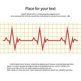Heart rate. Vector cardiogram with space for your text. royalty free illustration