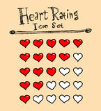 Heart Rating Icons Royalty Free Stock Photo