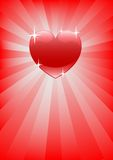 Heart in rays Stock Photography
