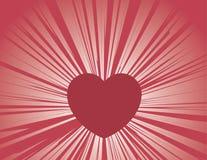 Heart Rays Stock Photos