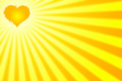 Heart with rays. Ideal background for valentines day celebration. The sun is a heart that brings warm rays Royalty Free Stock Photo