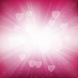 Heart Rays Background Stock Photography