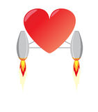 Heart with reactive power Royalty Free Stock Image