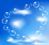 Heart of realistic bubbles,symbol of love Royalty Free Stock Photos