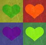 Heart and rectangles background. royalty free stock image