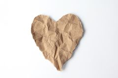 Heart Recycle Paper Royalty Free Stock Image