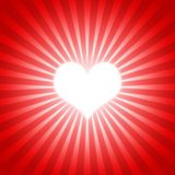 Heart red 01. Big heart in shiny red background Royalty Free Stock Photos