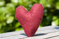 Heart in red Stock Images