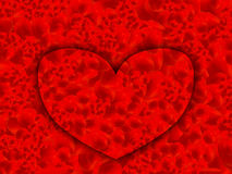 Heart red alphabet. Royalty Free Stock Photography