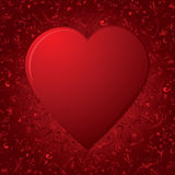 The Heart on red background. Decorative template from ornate elements, illustration Stock Photography