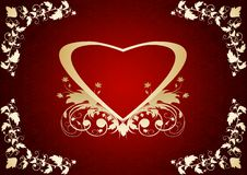 Heart on a red background Royalty Free Stock Photo