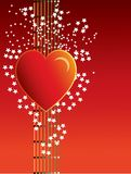 Heart on red background Royalty Free Stock Photos