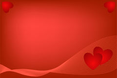 Heart on a red background Royalty Free Stock Image