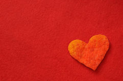 Heart on red background Stock Image