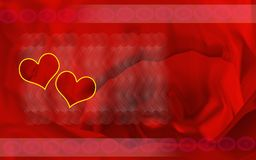 Heart in red background Stock Photo