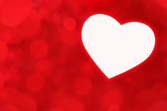 Heart on a red background Stock Photos