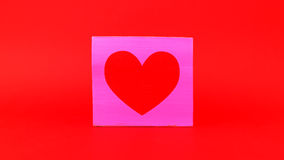 Heart with red background Stock Image